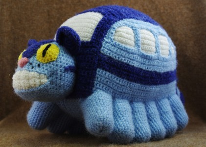 amigurumi cat bus catbus my neighbor totoro ghibli miyazaki katinas autobusas katobusas žaislas toy