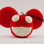 amigurumi, charm, deadmau5, Joel Thomas Zimmerman, mau5head, mouse, pakabukas, pelė