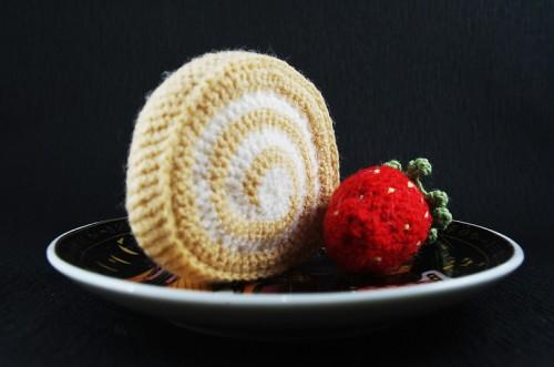 amigurumi, roll, vyniotinis, desertas, pyragaitis