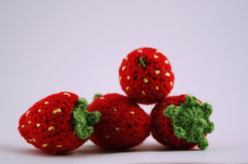 amigurumi, strawberry, berry, braškė, uoga