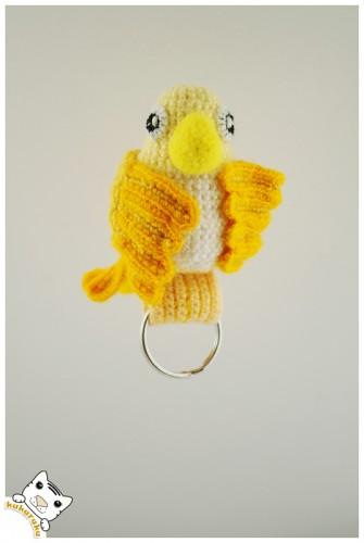 amigurumi, bird, keychain, paukštis, pakabukas