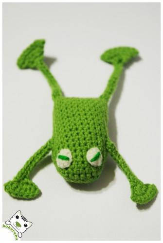 amigurumi frog varlė