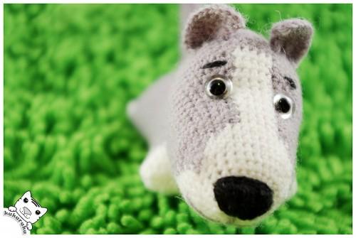 amigurumi, american staffordshire terrier, dog, amerikiečių stafordšyro terjeras, šuo