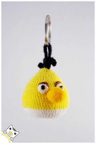 amigurumi, keychain, angry birds, pakabukas