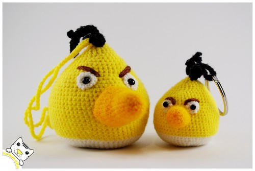 amigurumi, keychain, charm, angry birds, pakabukas