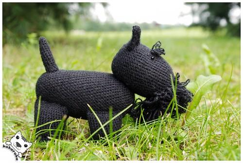 Scottish terrier, amigurumi, dog, škotų terjeras, šuo, žaisliukas